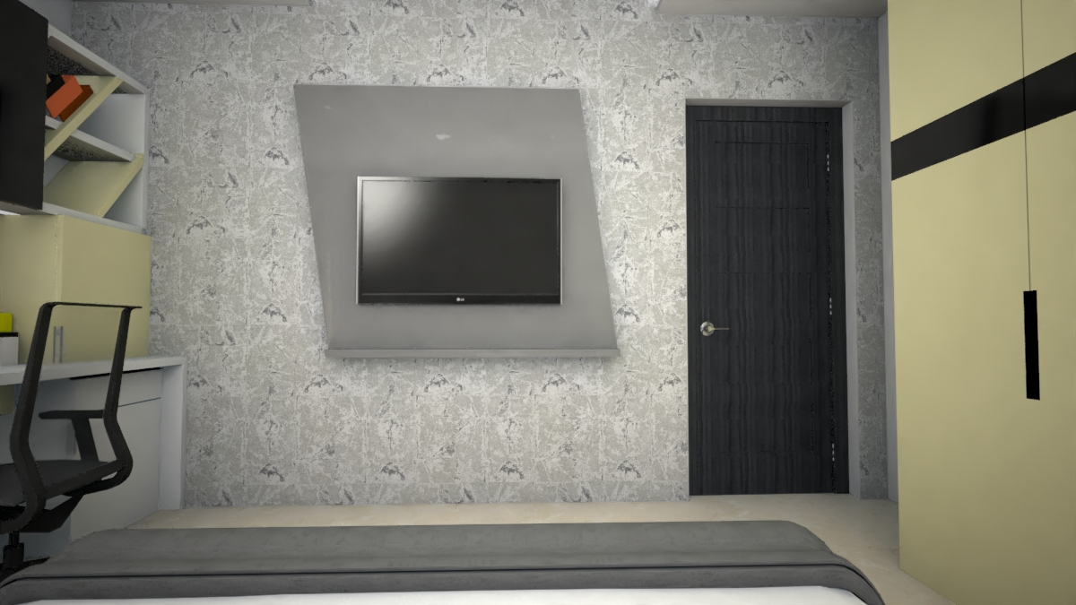 A simple Tv console in Bedroom