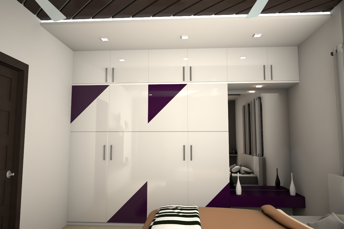 Bedroom – Wardrobe designed to fit the client need