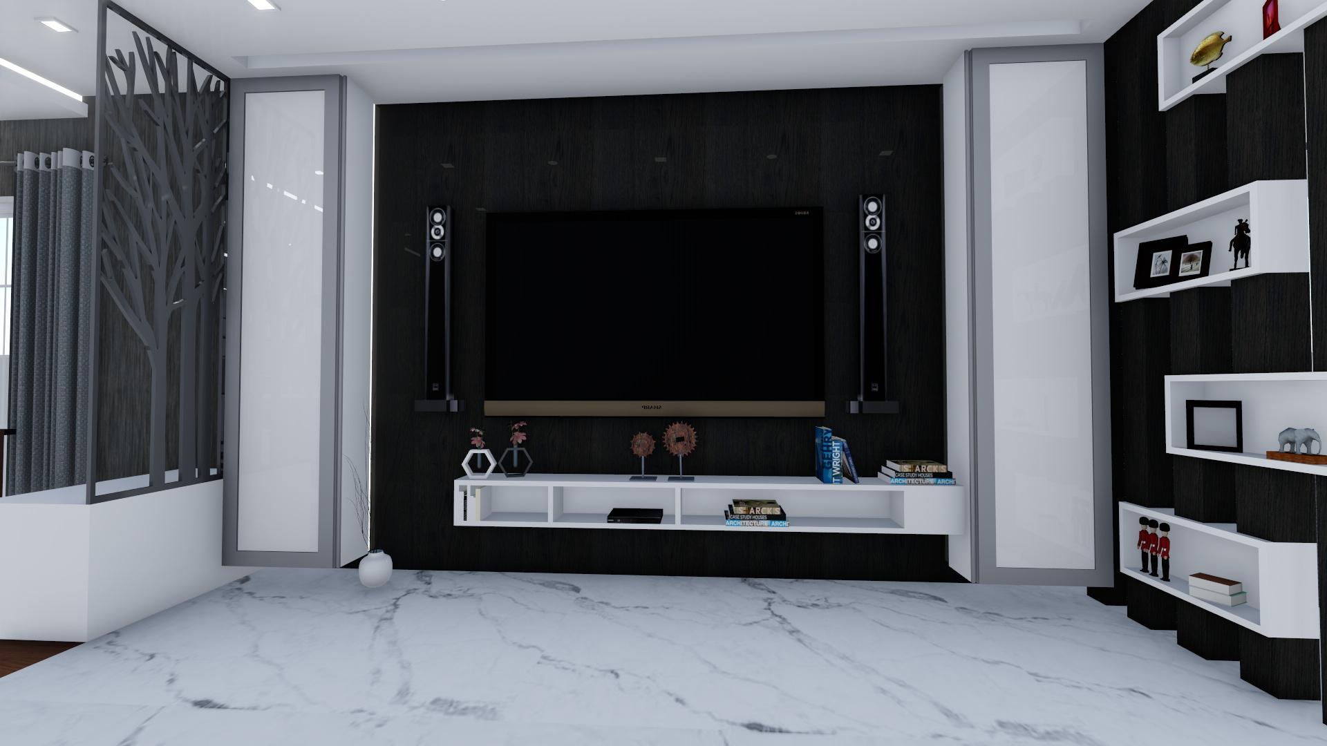 tv unit in living area