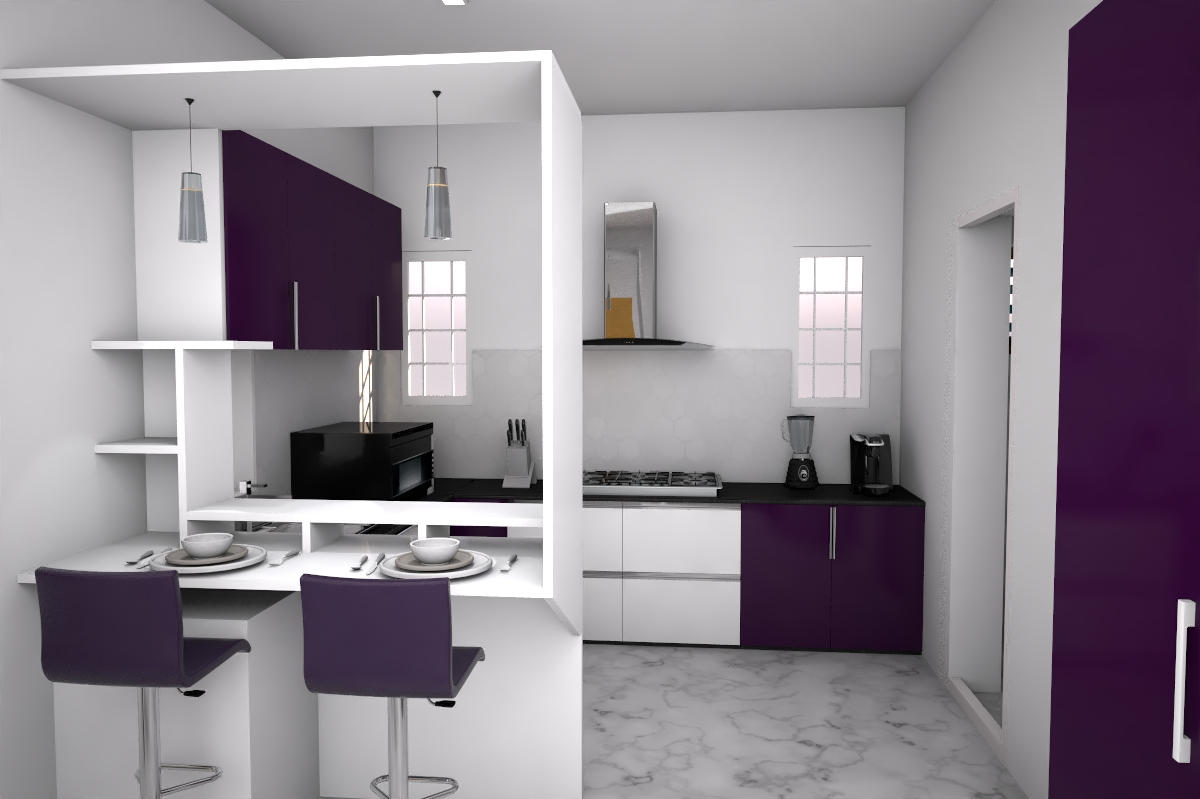 Kitchen designed with sleek and epco accessories